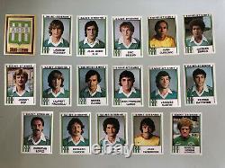 Rare set complet Panini de l'équipe de Saint Etienne du championnat 1981