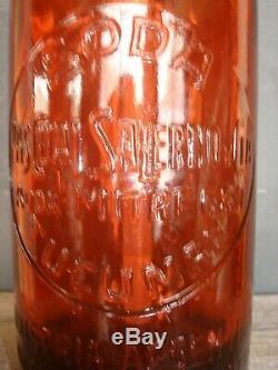 Rare siphon en verre rouge, eau de Seltz, complet, TBE/Brocante-et-compagnie