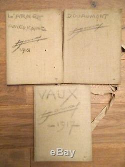Rarissime collection complète des 13 Carnets de croquis s/n Lucien JONAS