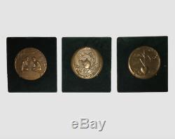 Rarissime ensemble complet de 7 médailles Franc Maçonnerie, les 7 premiers jours