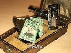 Rasoir / Razor Darwin De Luxe 1925 Set complet lames Gillette