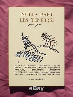 Revue NULLE PART. Collection complète des 7 numéros parus