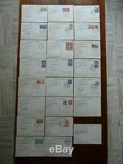 Rrare Jeu Complet 23 Cartes Cachets Etapes Du Tour De France 1953 Cyclisme Velo