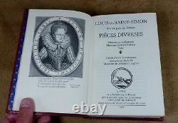SAINT-SIMON MEMOIRES COLLECTION COMPLETE 22 volumes NEUFS JEAN DE BONNOT 1965