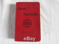 SUPERBE GUIDE MICHELIN ROUGE 1906 complet de ses pages 2 signets sans carte+++++