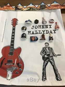 Série Complète des 10 Fèves De Johnny hallyday 2019 + Sac À Galette Et Couronne
