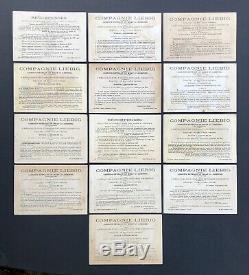 Serie complète 12 + 1 Chromos Liebig S 53 Avec les 2 Variantes de la carte A