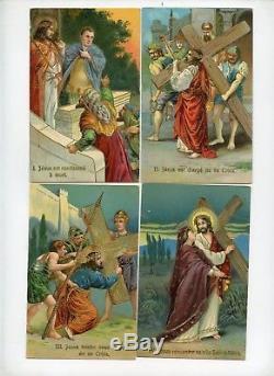 Série complète 14 CPA. Le chemin de Croix de Jésus. Set of 14 Postcards