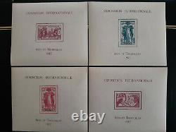 Série complète de 24 blocs de l'Exposition internationale de Paris 1937, SUPERBE