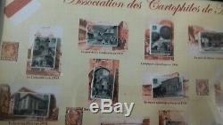 Série complète des 20 Fèves Costa à Monaco Cartes Postales Anciennes sous cadre
