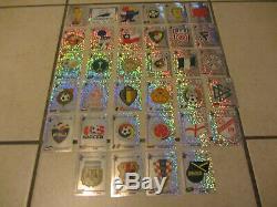 Set complet des 34 écussons Panini World Cup France 98 WM 1998 Badges