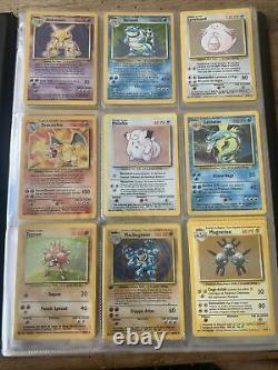 Set de Base Pokémon Complet 102/102 + classeur officiel 1999 Wizards