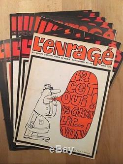 Siné L'ENRAGE Collection Complète des 12 numéros TBE/NEUF
