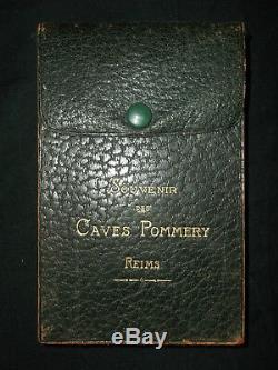 Souvenir des Caves Pommery & Greno Reims 40 cpa (complet) +étui Champagne
