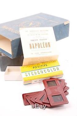 Stereofilm Bruguiere Napoleon série complète. 78 vues. Du film de Sacha Guitry