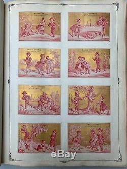 Superbe Album de Chromos 60 Planches fin XIXème dont 2 Abécédaires complets