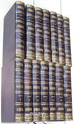 Superbe Ensemble Complet Godescard 1818/24 Vies des Pères, Martyrs. 14 vol. TBE