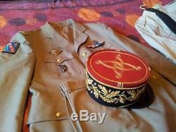 Superbe Kepi De General De Brigade Avec Magnifique Uniforme De Ceremonie Complet