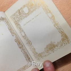 Superbe Livre de Mariage reliure Cuir enluminure complet A Name Tours XIXème
