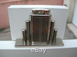 Superbe briquet de table essence Déniel's Art Déco complet possède sa taxe