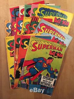 Superman et Batman Collection complète des 16 numéros 1967/68 TBE