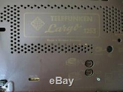 Telefunken Largo 1253, Poste de Radio à Tubes, Complet Restauré, Super État