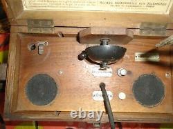 Telephone De Campagne 144/8.1916. Complet. Etat Major. Officier. Modele De Luxe