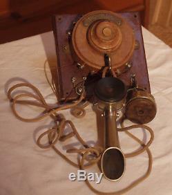 Téléphone ancien SIT complet de début 1900