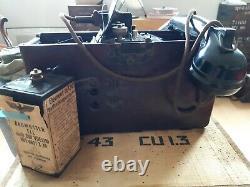 Téléphone de campagne, Feldtefeon, Allemand, WW2 complet et sa rare pile 1942