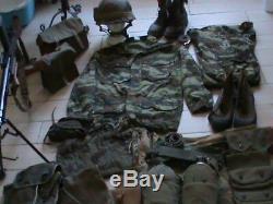 Tenue complète de para algérie équipement et uniforme en TTBE