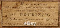 Tres Rare Et Complete Balance De Changeur XVIII Eme Pourin Au P Couronne