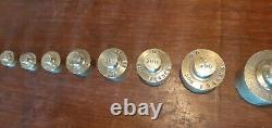 Tres Rare Serie De Poids Francs Or Complete. Port 5