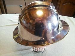 Tres Rare Superbe Casque De Pompier De Paris Type 1933 Complet Et Numerote