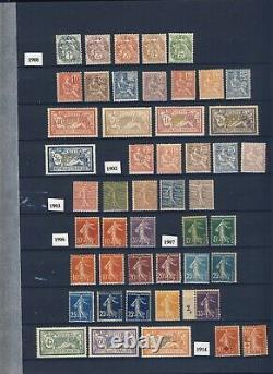 Très belle collection complète de France de 1849 à 1959 (val. Catalogue 45000)