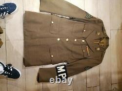 Très rare Uniforme de sergent MP US complet 100%originale date 1942 nominatif