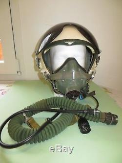Très rare casque de Pilote de Chasse Soviétique (Ou Russe), complet, à identifier