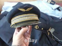 Uniforme complet de lieutenant colonel armée de l'air, plaques matricules