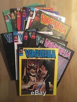 VAMPIRELLA Collection complète des 25 numéros TBE