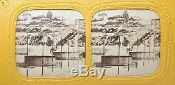 Vue stereo panoptique. La fête de Montmartre 1860, série complète de 9 cartes