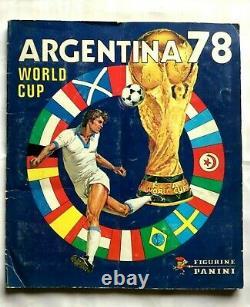 WORDLD CUP FOOTBOL Argentina 78 Cartes sportives de collecion, album Panini 1978