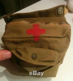 WW2 infirmier Trousse US medical department USA complete de terrain 1944