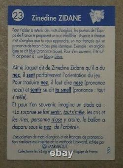 Zinedine Zidane Rookie #23 La Vache Qui Rit Équipe De France 1996 Panini RARE